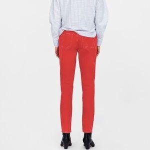 Zara mom jeans | red denim | high waisted